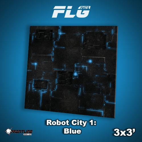 Frontline Gaming Mats: Robot City v1 Blue 3x3'