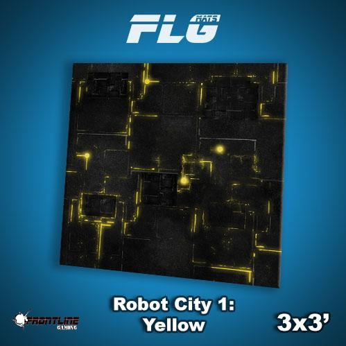 Frontline Gaming Mats: Robot City v1 Yellow 3x3'