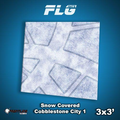 Frontline Gaming Mats: Snow Covered Cobblestone City v1 3x3'
