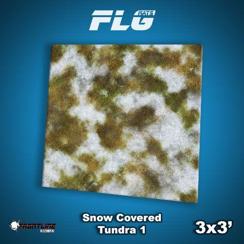 Frontline Gaming Mats: Snow Covered Tundra v1 3x3'