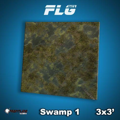 Frontline Gaming Mats: Swamp v1 3x3'