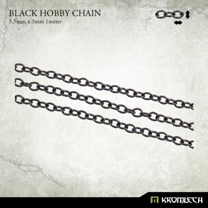 Accessories: Black Hobby Chain 3,5mm x 3mm (1 meter)