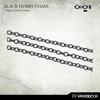 Accessories: Black Hobby Chain 3mm x 2,5mm (1 meter)