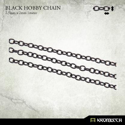 Accessories: Black Hobby Chain 2.5mm x 2mm (1 meter)