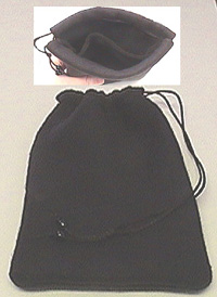 Black Fleece 2-Pocket Dice Bag
