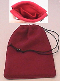 Red Fleece 2-Pocket Dice Bag