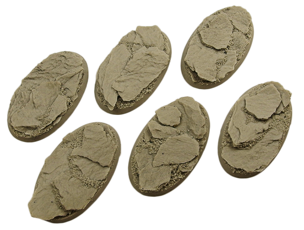 Battle Bases: Shale Bases, Oval 60mm (4)