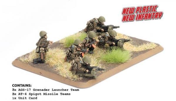 Flames Of War (Team Yankee): AFGANTSY HEAVY WEAPONS (Plastic Figures)