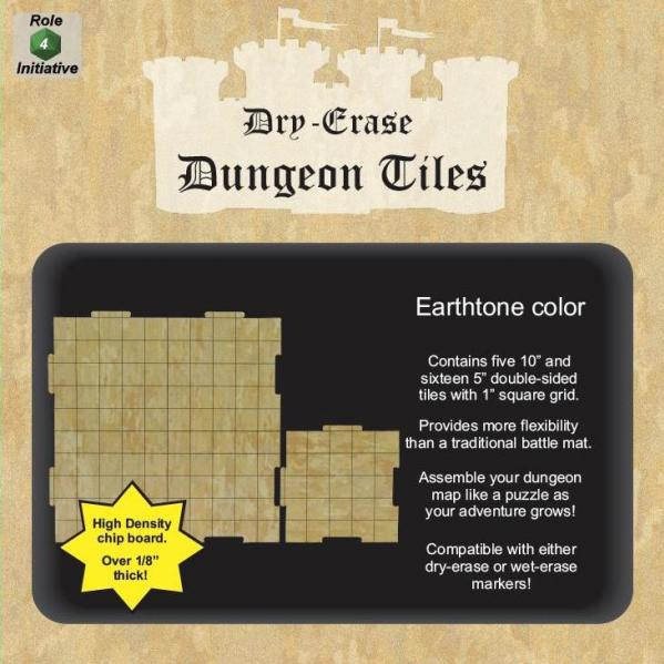 Dungeon Tiles: Earthtone - 10'' and 5'' Squares (21)