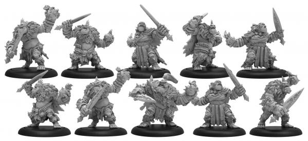 Hordes: (Trollbloods) Northkin Raiders - Trollblood Unit (resin/metal)
