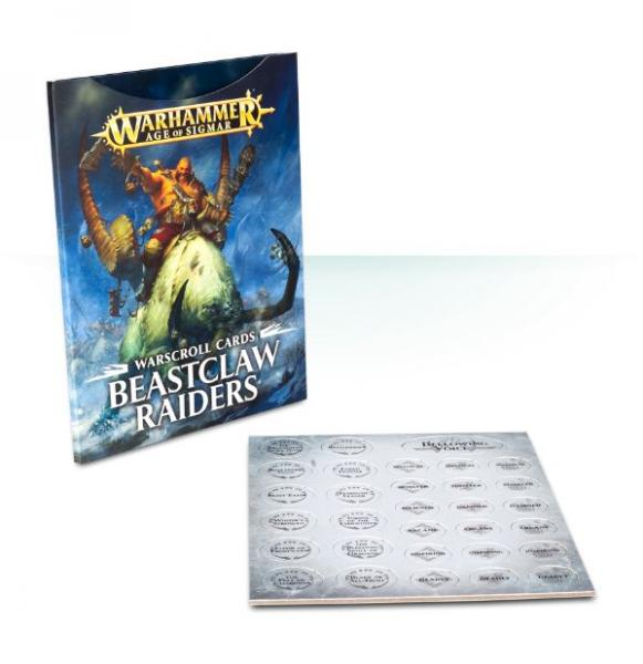 Age of Sigmar: Warscroll Cards: Beastclaw Raiders