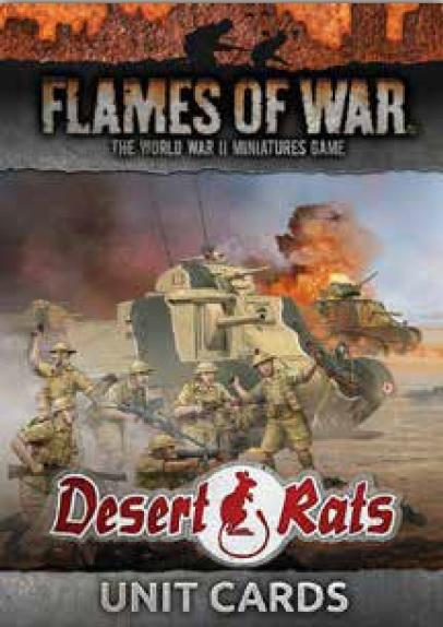 Flames Of War (WWII): Unit Cards - Desert Rats (21)