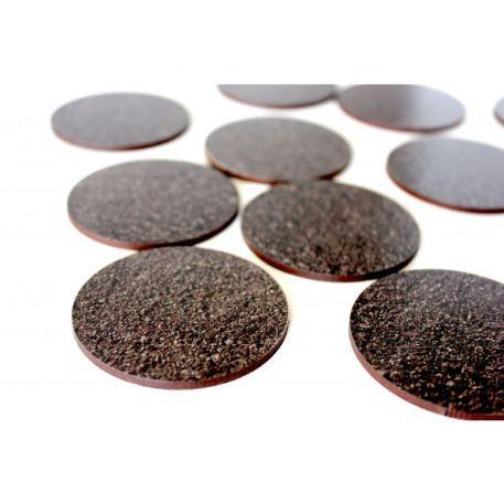 Bandua Pre Painted Bases: 55mm Black Earth (5)
