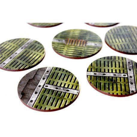 Bandua Pre Painted Bases: 60mm Industrial (5)