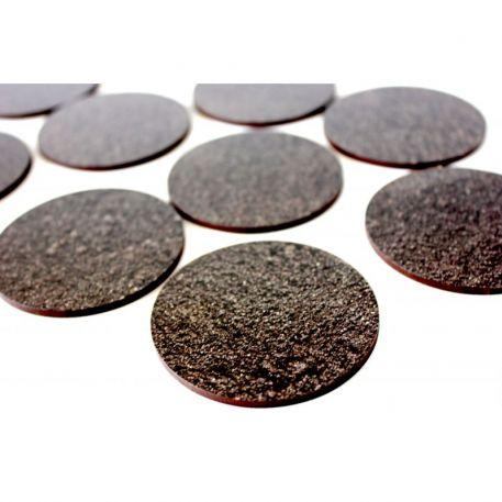 Bandua Pre Painted Bases: 60mm Black Earth (5)