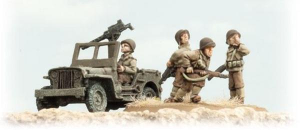 Flames of War: (US) Armored Rifle Company HQ (2x Jeeps, HQ Teams)