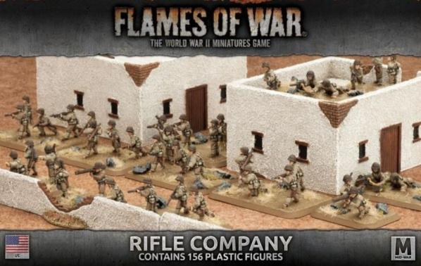Flames Of War (WWII): (USA) Rifle Company (Plastic) (2017)