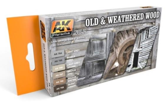 AK-Interactive: OLD AND WEATHERED WOOD VOL.2 COLORS SET
