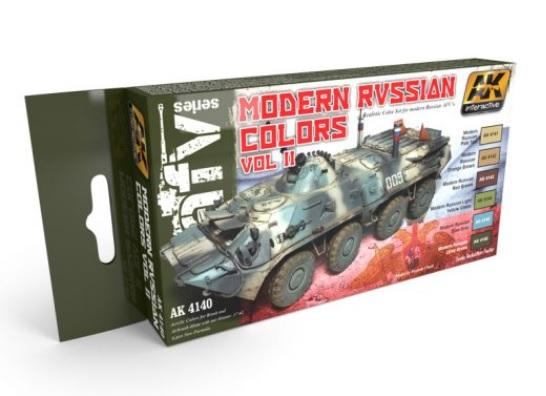 AK-Interactive: MODERN RUSSIAN COLOURS VOL.2 SET