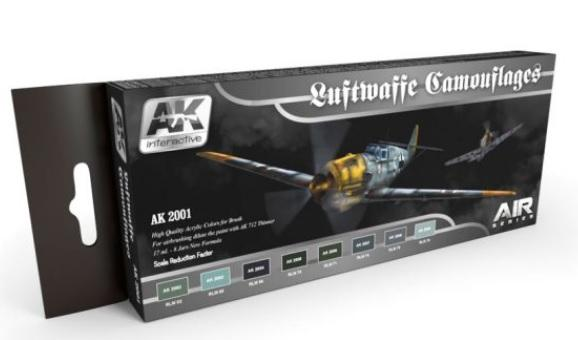 AK-Interactive: LUFTWAFFE CAMOUFLAGES COLORS SET