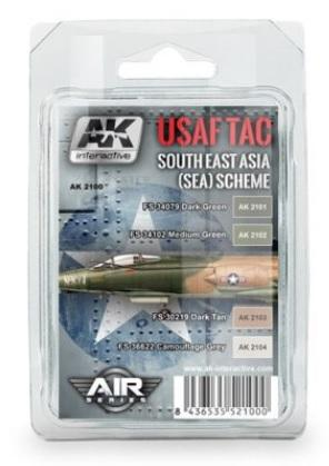 AK-Interactive: USAF TAC SOUTH EAST ASIA (SEA) SCHEME COLORS SET
