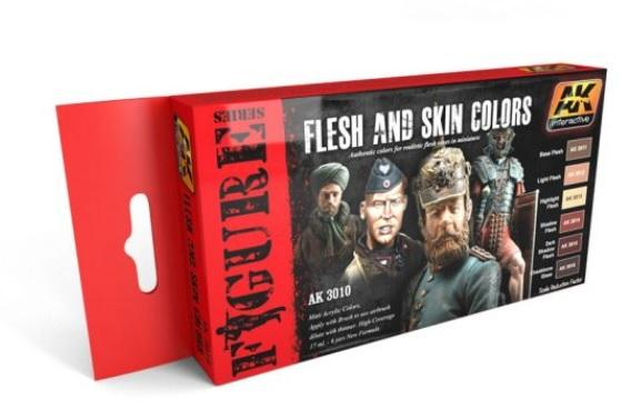 AK-Interactive: FLESH AND SKIN COLORS SET