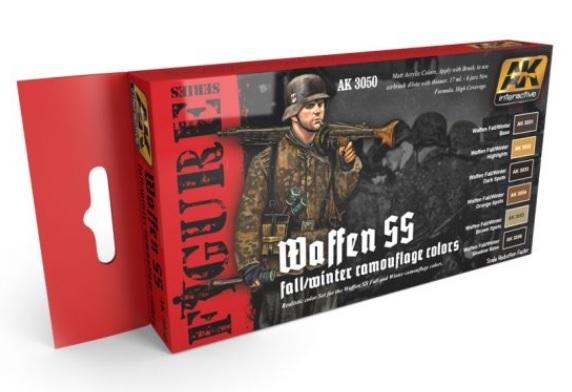 AK-Interactive: WAFFEN SS FALL/WINTER CAMOUFLAGE COLOURS SET