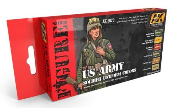 AK-Interactive: US ARMY SOLDIER UNIFORM COLORS WWII COLORS SET