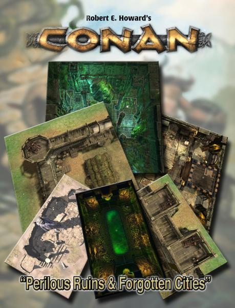 Conan RPG: Perilous Ruins & Forgotten Cities Geo. Tile Set