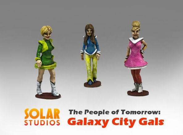 28mm Sci Fi: Galaxy City Gals (3)