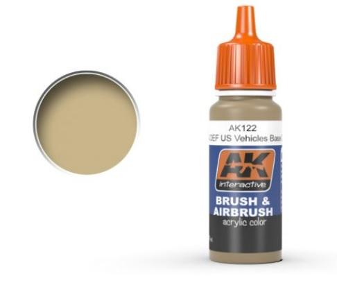 AK-Interactive: OIF & OEF - US VEHICLES BASE COLOR Acrylic Paint