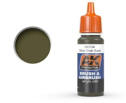 AK-Interactive: OLIVE DRAB BASE Acrylic Paint