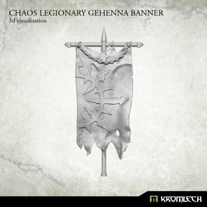 Conversion Bitz: Chaos Legionary Gehenna Banner (1)