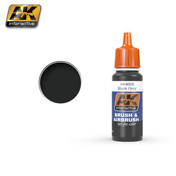 AK-Interactive: BLACK GREY Acrylic Paint