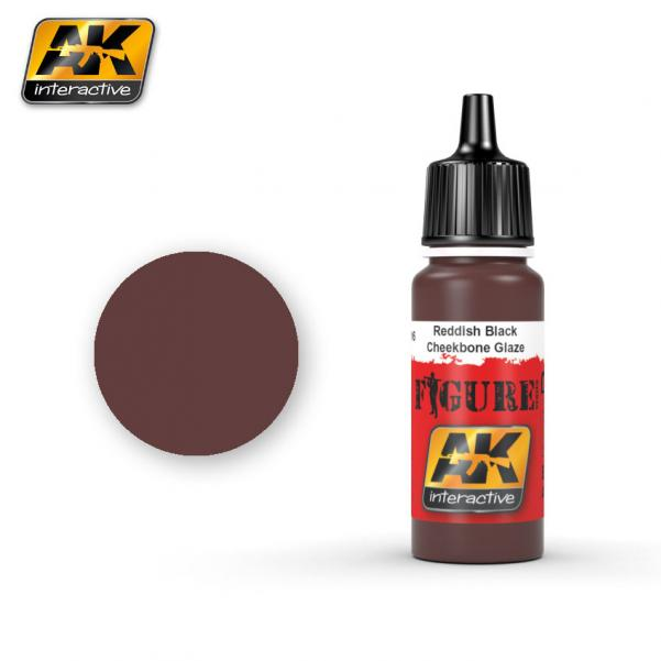 AK-Interactive: (Figure) REDDISH BLACK CHEEKBONE GLAZE Acrylic Paint