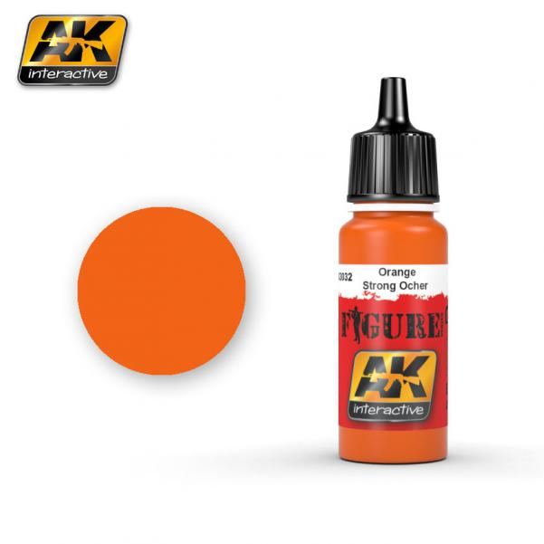 AK-Interactive: (Figure) ORANGE / STRONG OCHER Acrylic Paint