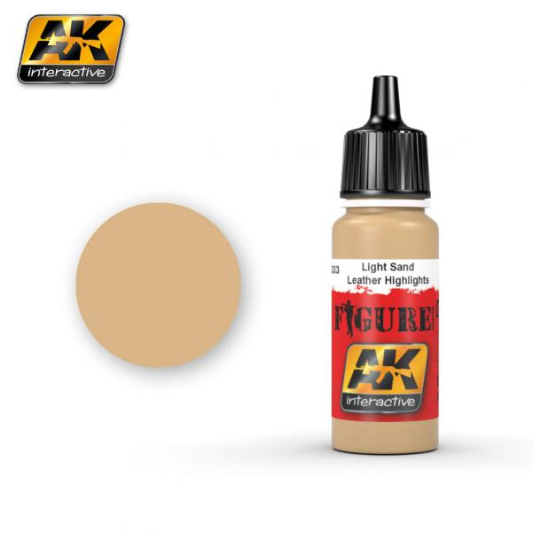 AK-Interactive: (Figure) LIGHT SAND / LEATHER HIGHLIGHTS Acrylic Paint