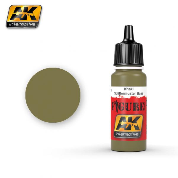 AK-Interactive: (Figure) KHAKI / SPLITTER BASE Acrylic Paint