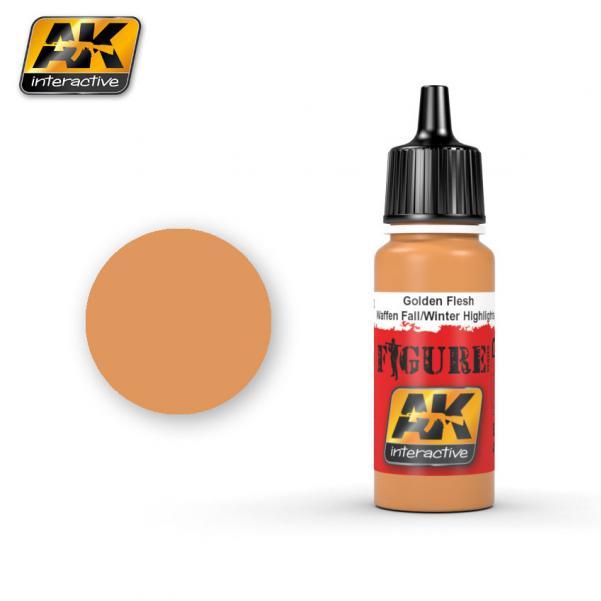 AK-Interactive: (Figure) GOLDEN FLESH WAFFEN FALL / WINTER HIGHLIGHTS Acrylic Paint
