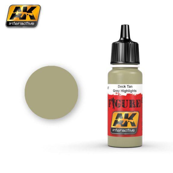 AK-Interactive: (Figure) DECK TAN / GREY HIGHLIGHTS  Acrylic Paint