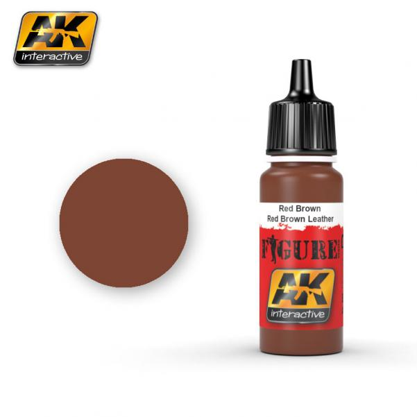 AK-Interactive: (Figure) RED BROWN / RED BROWN LEATHER  Acrylic Paint