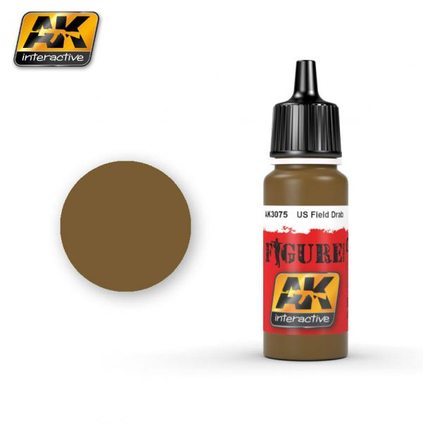 AK-Interactive: (Figure) US FIELD DRAB Acrylic Paint