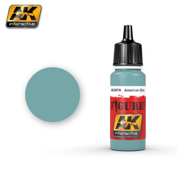 AK-Interactive: (Figure) AMERICAN BLUE Acrylic Paint