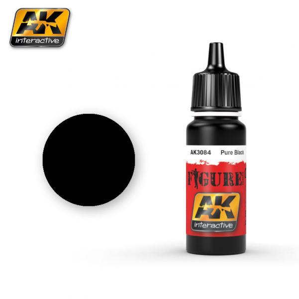 AK-Interactive: (Figure) PURE BLACK Acrylic Paint