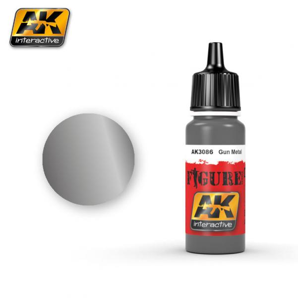 AK-Interactive: (Figure) GUN METAL (Figure) Acrylic Paint