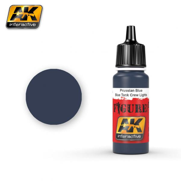 AK-Interactive: (Figure) PRUSSIAN BLUE / BLUE TANK CREW LIGHTS  Acrylic Paint