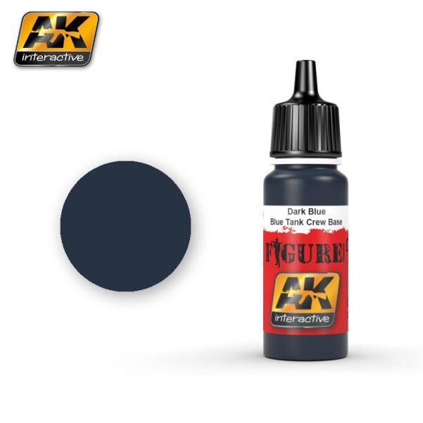AK-Interactive: (Figure) DARK BLUE / BLUE TANK CREW BASE Acrylic Paint