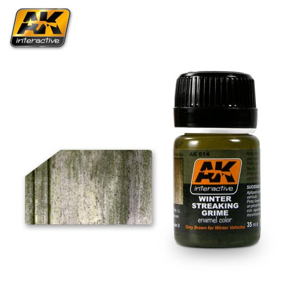 AK-Interactive: (Weathering) STREAKING GRIME FOR WINTER VEHICLES