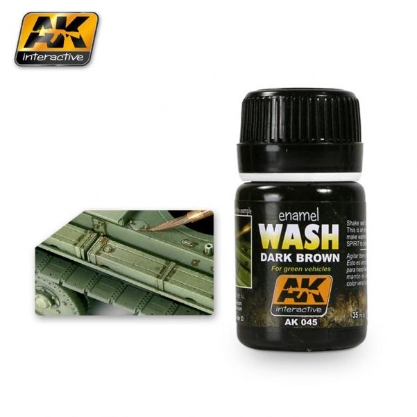 AK-Interactive: (Weathering) WASH FOR GREEN VEHICLES