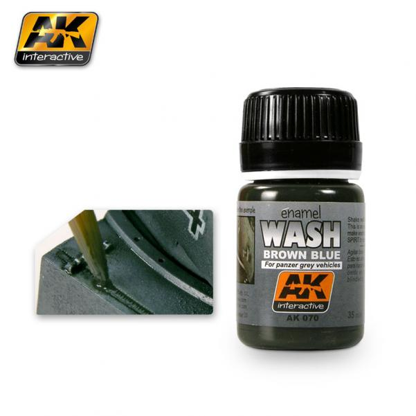 AK-Interactive: (Weathering) WASH FOR PANZER GREY VEHICLES